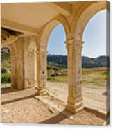 Arches And Stairs Of Derelict Agios Georgios Church Canvas Print
