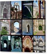 Arches Collage Canvas Print