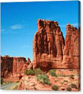 Arches National Park From A Utah Highway Canvas Print