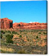 Arches National Park In Moab, Utah Canvas Print
