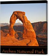Arches National Park Poster Canvas Print