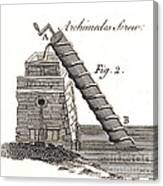 Archimedes Screw, 1769 Canvas Print
