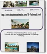 Architectural 3d Flythrough Canvas Print