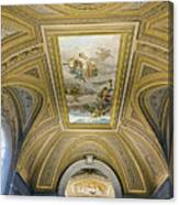 Architectural Artistry Within The Vatican Museum In The Vatican City Canvas Print
