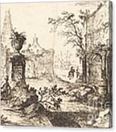 Architectural Fantasy With Roman Ruins Canvas Print
