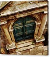 Architectural Green Door Dibrovnik Canvas Print