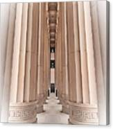 Architectural Pathway Of Pillars Canvas Print