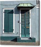 Architecture Of The French Quarter In New Orleans Canvas Print