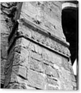 Architecural Detail At Irish Jerpoint Abbey County Kilkenny Ireland Black And White Canvas Print