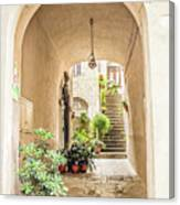 Archway And Stairs In Italy Canvas Print