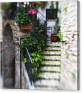 Archway And Stairs Canvas Print