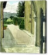 Archway Villa Mandri Canvas Print
