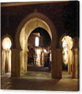 Archways At Night Canvas Print
