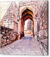 Archways Ornate Palace Mehrangarh Fort India Rajasthan 1a Canvas Print
