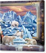Arctic Bears Coming Canvas Print