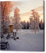 Arctic Homestead Canvas Print