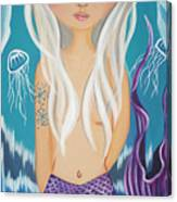 Arctic Mermaid Canvas Print