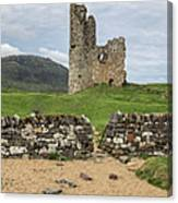 Ardvrek Castle Panorama 0842 Canvas Print