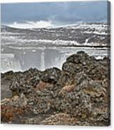 Area By Godafoss Waterfalls, Iceland Canvas Print