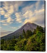 Arenal At The Sun's Last Touch Canvas Print