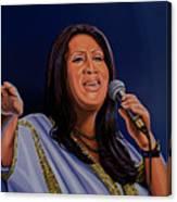 Aretha Franklin Painting Canvas Print
