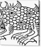 Argus Sea Monster, 1537 Canvas Print