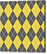 Argyle Diamond With Crisscross Lines In Pewter Gray N05-p0126 Canvas Print