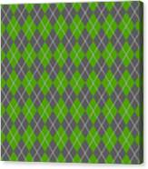 Argyle Diamond With Crisscross Lines In Pewter Gray N09-p0126 Canvas Print