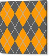 Argyle Diamond With Crisscross Lines In Pewter Gray T03-p0126 Canvas Print