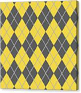 Argyle Diamond With Crisscross Lines In Pewter Gray T05-p0126 Canvas Print