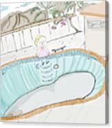 Arial Skates Pools Canvas Print