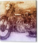 Ariel Square Four 2 - 1931 - Vintage Motorcycle Poster - Automotive Art Canvas Print