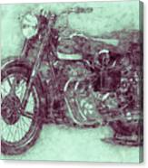 Ariel Square Four 3 - 1931 - Vintage Motorcycle Poster - Automotive Art Canvas Print