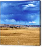Arising Storm Over Calgary Canvas Print