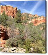 Arizona Canyon Sky Four Canvas Print