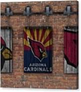 Arizona Cardinals Brick Wall Canvas Print