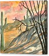 Arizona Evening Southwestern Landscape Painting Poster Print  Canvas Print