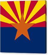 Arizona Flag Art Canvas Print
