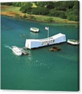 Arizona Memorial From Above Canvas Print