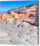 Arizona- Paria Plateau- White Pocket Canvas Print