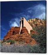 Arizona, Sedona  Chapel Of The Holy Cross Canvas Print