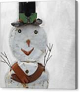 Arizona Snowman Canvas Print