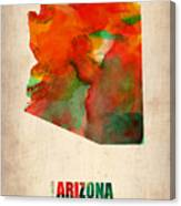 Arizona Watercolor Map Canvas Print