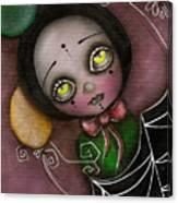 Arlequin Clown Girl Canvas Print