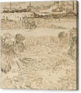 Arles View From The Wheatfields Canvas Print