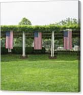 Arlington Flags Canvas Print
