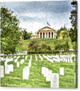 Arlington House Half Mast  Canvas Print