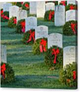 Arlington National Cemetery At Christmas Canvas Print