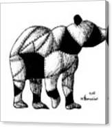 Armored Bear Canvas Print