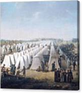 Army Camp In Rows  Canvas Print